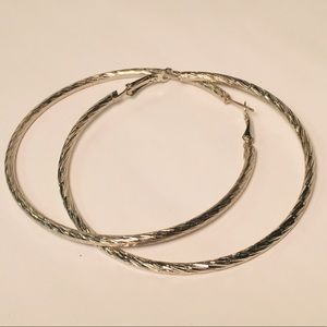 4 for $12: Large Textured Hoops